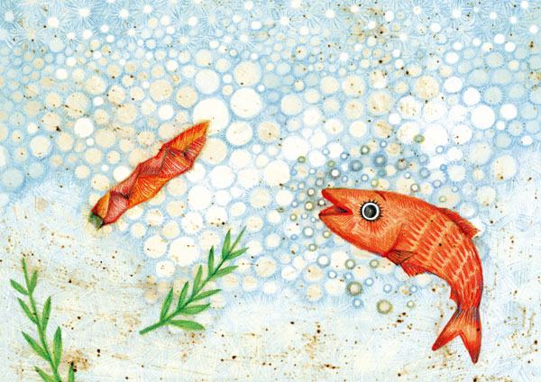 【終了】9/19(火)-10/15(日)絵本『赤い金魚と赤いとうがらし』刊行記念 福田利之 原画展